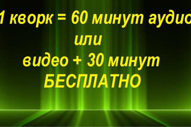 Кворк 60 минут аудио или видео в текст. БОНУС 30 минут при заказе! 1 - kwork.ru