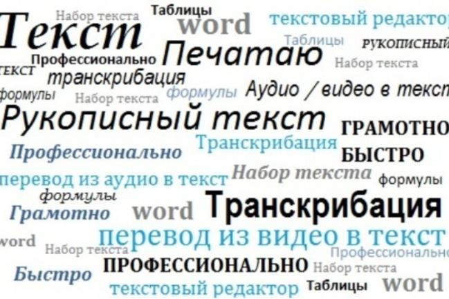 Набор текстов быстро и качественно 1 - kwork.ru
