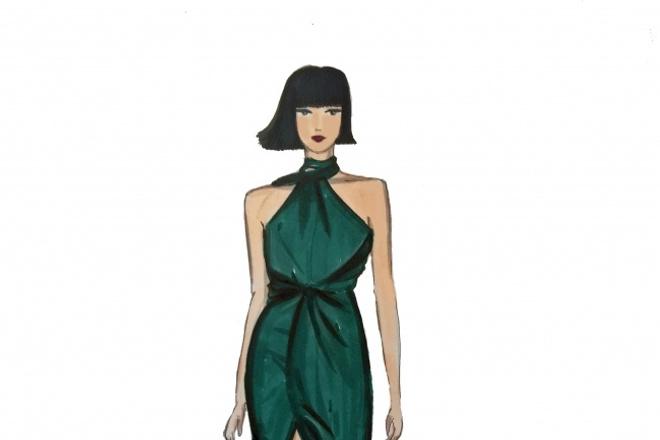 Нарисую fashion-иллюстрации, скетчи 1 - kwork.ru