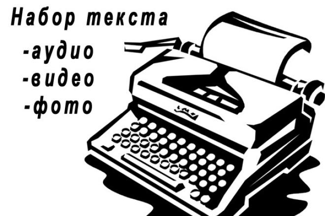 Набор текста, преобразование с фото, аудио или рукописногоНабор текста<br>Выполню следующие услуги: - набор текста со скана; - набор текста с фотографий; - набор текста с аудио или видео записи; - набор текста с файлов pdf. Работаю с рукописными текстами и с напечатанными материалами. Результат могу предоставить в форматах doc, docx, pdf, txt или других по согласованию. Для аудио: 15 минут записи = 1 кворк.<br>