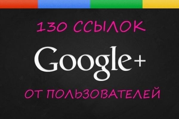 130 вечных ссылок из соц. сети Google+ 1 - kwork.ru