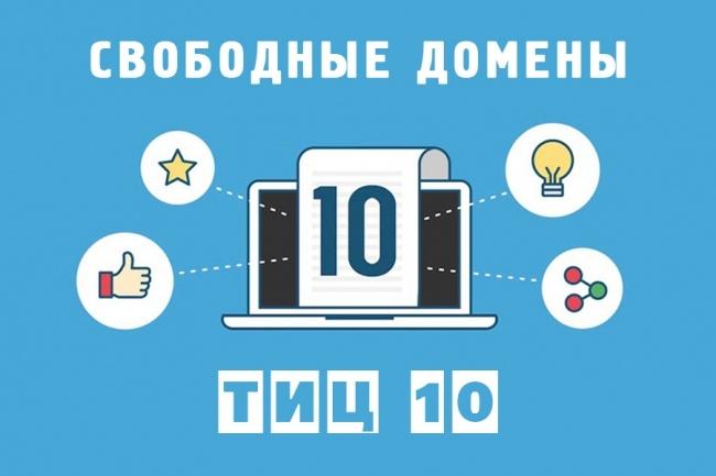 Свободный домен Вашей тематики с ТИЦ 1 - kwork.ru