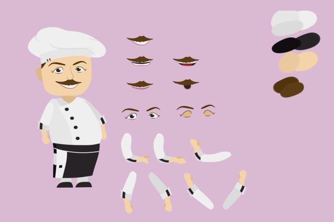 Нарисую персонажа для анимации 1 - kwork.ru