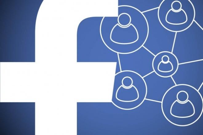 Соберу вашу целевую аудиторию состоящую в нескольких группах FacebookПродвижение в социальных сетях<br>Соберу Вашу целевую аудиторию, состоящую в нескольких группах Facebook. Если человек состоит минимум в 2 группах посвященных какой-то конкретной теме, то наверняка он этим интересуется и пользуется. На рынке интернет-маркетинга очень мало таких предложений касаемо Facebook. Пользуйтесь. После анализа аудитории Вам будут предоставлены открытые данные юзеров состоящих минимум в 2 группах: ссылка на пользователя id пользователя имя, фамилия пол email год рождения родной город, страна город проживания, страна Для анализа аудитории нужно предоставить группы для определения пересечений пользователей в них. Дополнительные функции : сбор пользователей состоящих в 3 группах сбор пользователей состоящих в 4 группах сбор пользователей по email, на который они регистрировались в Facebook. (если у вас есть база почтовых ящиков, то я помогу вам найти их владельцев в Facebook, если на эти ящики они регистрировались) P. S. Данные берутся из открытых источников (из кода facebook).<br>