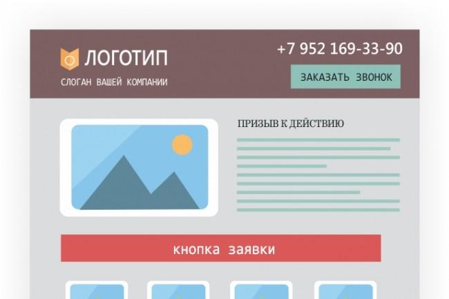 Создам прототип landing-page 1 - kwork.ru