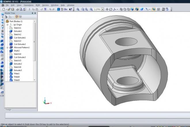 Модели Компас, SolidWorksИнжиниринг<br>Выполню модель несложной детали в компас или solidworks по вашим чертежам, эскизам или фотографиям.<br>
