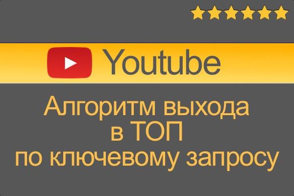 Алгоритм попадания в ТОП ютуб по ключевому запросу, youtube 1 - kwork.ru
