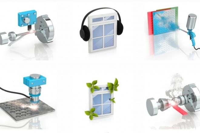Создание реалистичных 3D иконокБаннеры и иконки<br>Создаю обьемные реалистичные изображения/иконки на сайт. Для разделов на сайт, или конкретных товаров.<br>