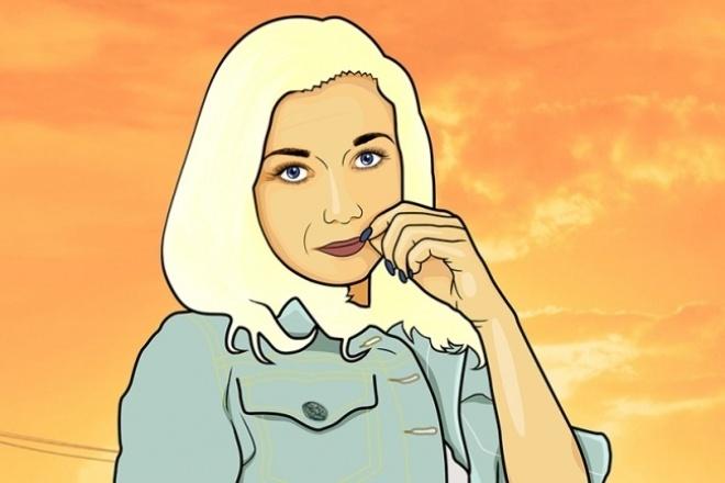 Арт в стиле комиксов GTA по фотографии 1 - kwork.ru