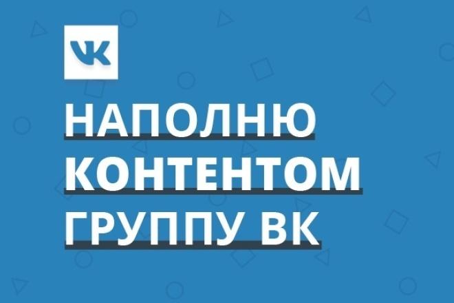Наполню контентом группу Вконтакте 1 - kwork.ru