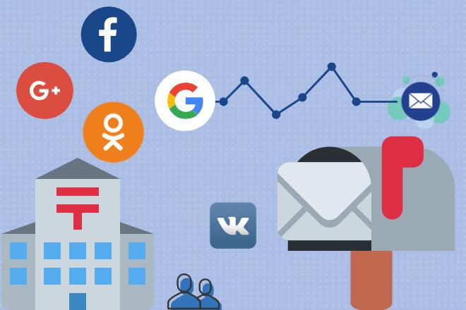 Создам почтовые ящики на выбор Gmail. com, Yandex. ru, Mail. ru 1 - kwork.ru