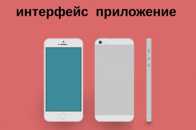 Сделаю интерфейс  приложения 1 - kwork.ru