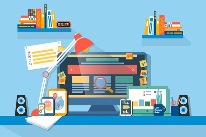 Разработка дизайна сайтовВеб-дизайн<br>Разработаю для Вас дизайн сайта, (лендинга, сайта-визитки, многостраничного сайта, отдельного блока сайта, баннера на сайт и пр.) Готовую работу отправлю в PSD макете, с разбивкой по блокам и слоям (для удобства верстальщиков), со всеми шрифтами и материалами, использованными в макете.<br>