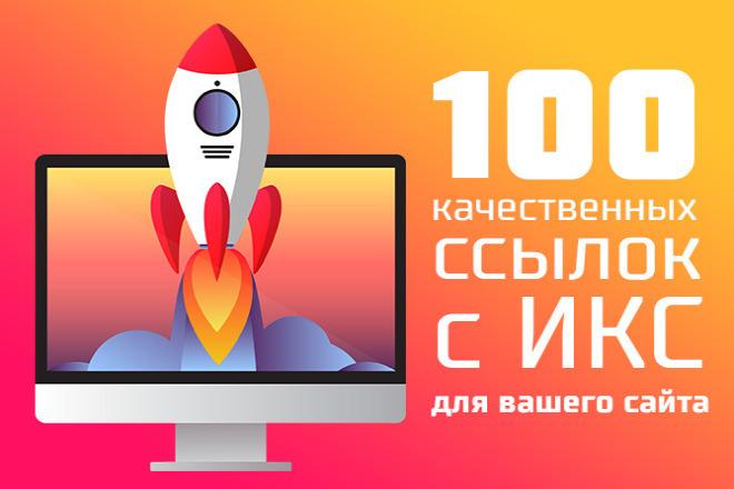 100 качественных ссылок с ИКС для вашего сайта 1 - kwork.ru