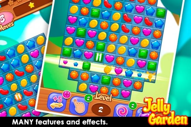 Исходники мобильной игры Jelly Garden Match 3. Unity source code 1 - kwork.ru