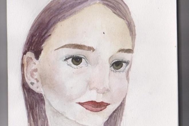 Напишу 2 портрета акварелью по фотографии 1 - kwork.ru