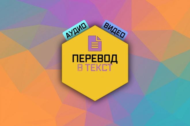Перевод в текст. Аудио и видео до 60 минут 1 - kwork.ru