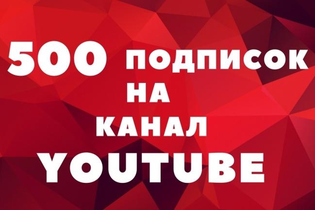 500 подписчиков на канал YouTubeПродвижение в социальных сетях<br>Продвигаю канал YouTube плавно и бережно. После получения ссылки на канал, 500+ живых людей в течение 2 дней оформят подписку. Списание подписчиков до 10%. Отчёт предоставляется в виде скриншотов до и после. При заказе нескольких кворков, время может быть увеличено в целях безопасности.<br>