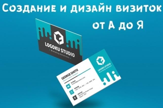 Дизайн визитокВизитки<br>Создание и дизайн визиток от А до Я Изготовлю до двух вариантов визиток, по вашему образцу или без. Визитка в формате jpeg или png Необходимое количество правок. Работа будет готова в течение 1 дня, после принятия заказа.<br>