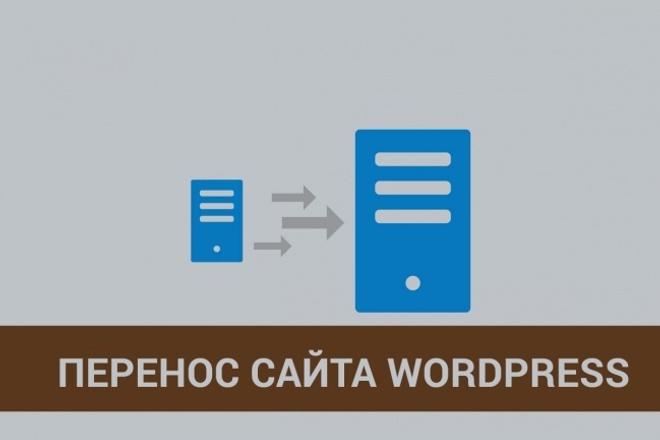 Перенос Wordpress сайта на другой хостинг 1 - kwork.ru