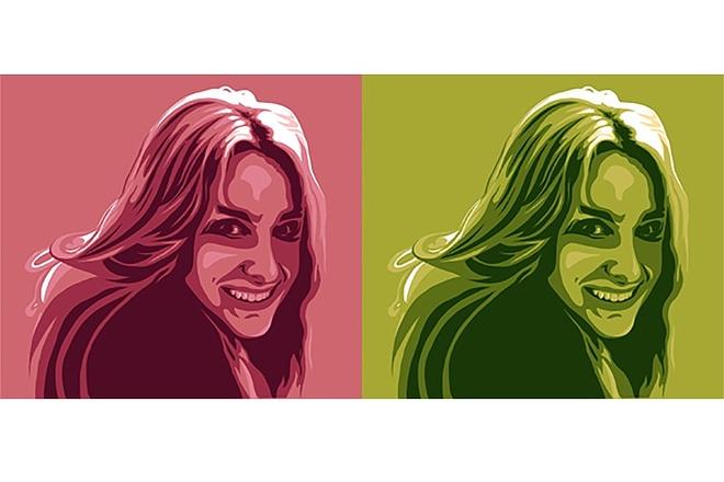 Портрет в стиле поп-арт по фотографии 1 - kwork.ru
