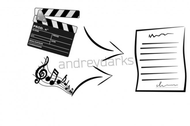 Переведу аудио, видео в текстНабор текста<br>Здравствуйте Переведу видео, аудио в текст. Грамотно и быстро перепечатаю текст! Настроен на продолжительное сотрудничество. срок выполнения сутки . набираю 20 слов за 40 секунд , если вам требуется текстовый файл в скором времени :)<br>