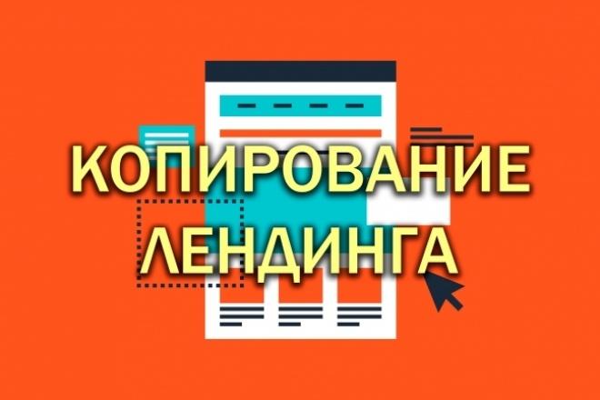Сделаю копию любого Лендинга качественно и быстро 1 - kwork.ru