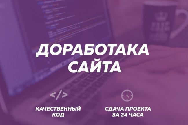 Доработка сайтаДоработка сайтов<br>Если у вас есть сайт на WordPress, Joomla, Opencart, HTML/CSS и вам понадобилось внести изменения, исправить ошибки, я могу вам помочь! 1 кворк = 1 задача Количество кворков определяет ваше тех. задание или список задач.<br>