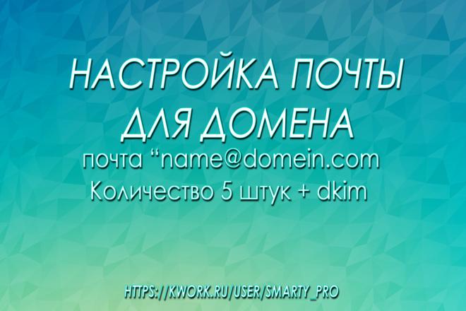 Настроим доменную почту, подключим домен к почте яндекс или mail. ru 1 - kwork.ru