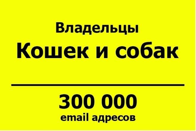 База email адресов - Владельцы кошек и собак - 300 тыс контактов 1 - kwork.ru