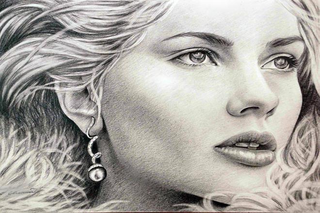 Портрет карандашом 1 - kwork.ru