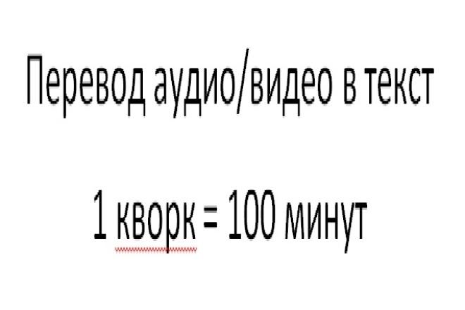 Переведу аудио или видео в текст 1 - kwork.ru