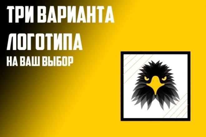 Сделаю качественный  Логотип по рисунку, 3 варианта логотипа 1 - kwork.ru