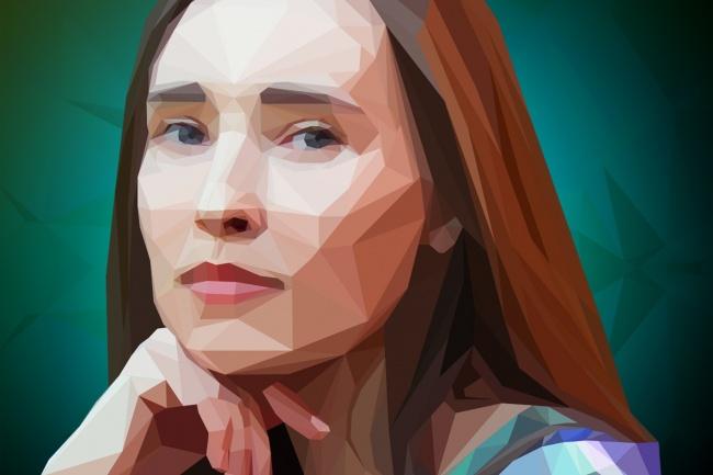 Сделаю полигональный портрет 1 - kwork.ru