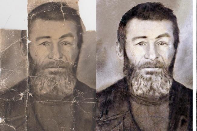 Реставрация старых фотоОбработка изображений<br>Реставрирую старые фотографии. Удаление заломов, трещин и др. Раскрашу ч/б фото с учётом Ваших пожеланий.<br>