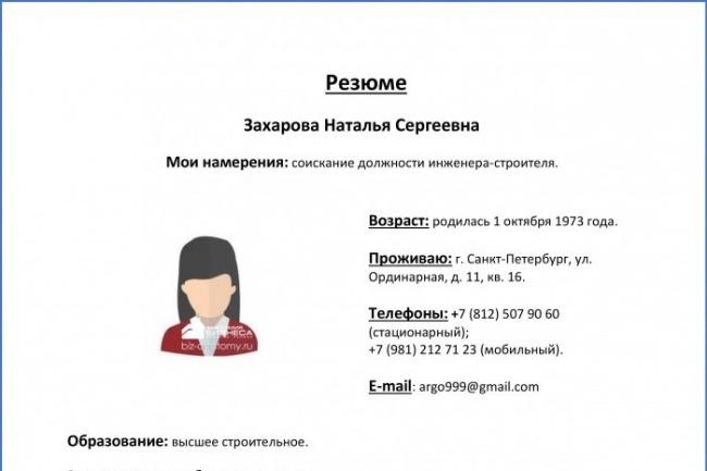 Cкрининг резюме, профориентация, аттестация компетенций 1 - kwork.ru