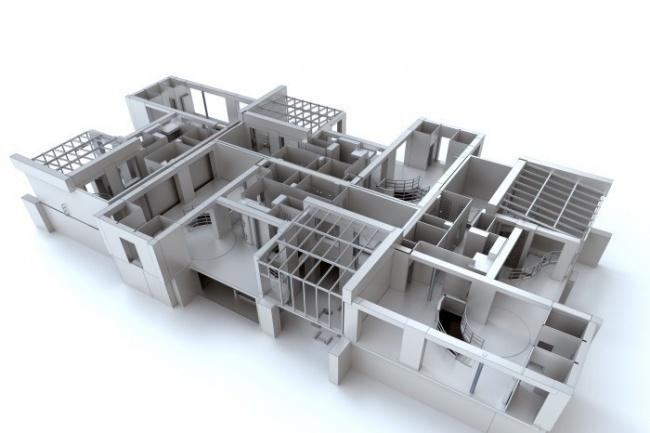 Создам 3D модель архитектурных объектов 1 - kwork.ru