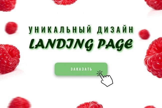 Дизайн лендинг пейдж 1 - kwork.ru