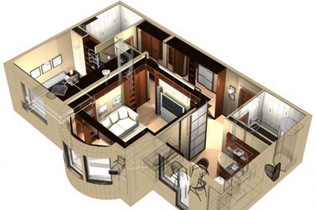 Придумаю уютную планировку для вашего будущего домаМебель и дизайн интерьера<br>Многие думают, что в таких домах 5х5м 6х6м сильно не развернуться! Однако, это заблуждение! Я составлю 3 различных вариантов планировки как для больших домов, так и для маленьких!<br>