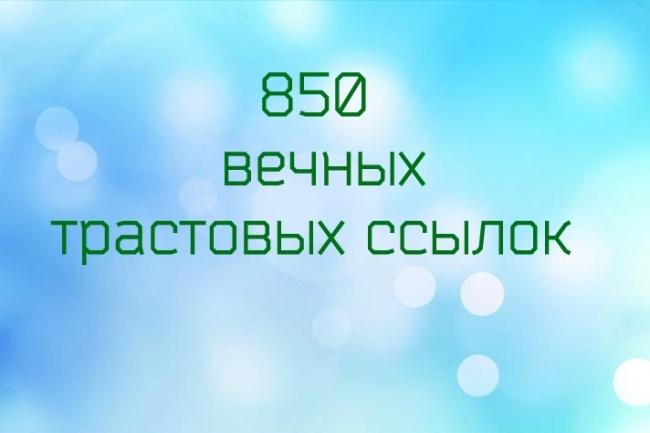 850 вечных трастовых ссылок 1 - kwork.ru
