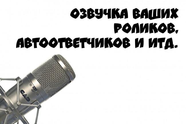 Озвучка ваших роликов, автоответчиков 1 - kwork.ru