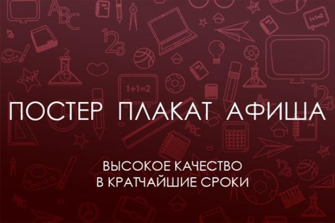 Постер, афиша, плакат 1 - kwork.ru