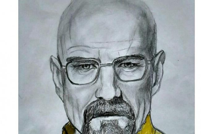 Нарисую портрет карандашами, ЧБ портрет 1 - kwork.ru