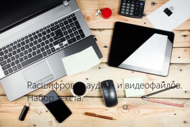 Расшифровка аудио- и видеофайлов, набор текста 1 - kwork.ru