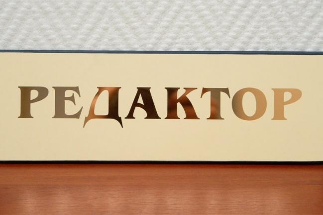 Редактирование и корректирование любых текстов 17 - kwork.ru