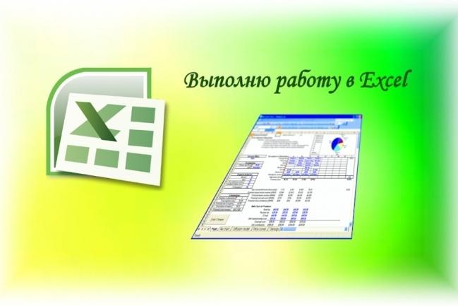 Выполню работу в ExcelПерсональный помощник<br>Здравствуйте, помогу в работе с Excel. Вы можете заказать: - Перенос таблиц из PDF и Word или бумажного варианта. - Создание таблицы по вашим данным, р-р 200 строк на 5 столбцов. - Редактирование / форматирование таблицы по вашим пожеланиям (можно уже имеющейся). - Объединение / разъединение таблиц.<br>