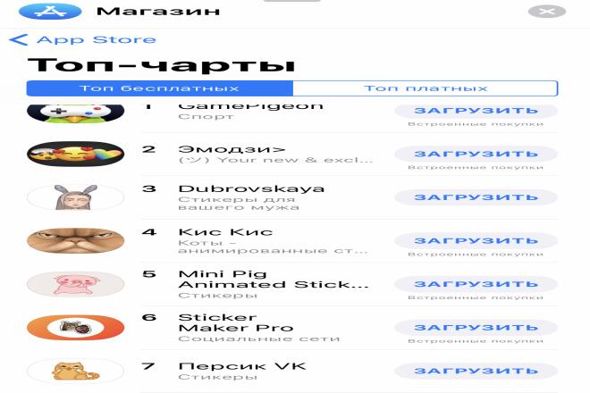 Опубликую ваши стикеры в App Store 1 - kwork.ru