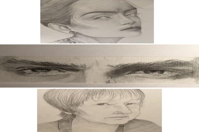 Портрет в графике 1 - kwork.ru