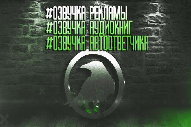 Озвучу Вашу рекламу, ролик или аудиокнигу 1 - kwork.ru