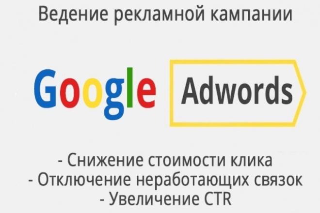 Ведение контекстной рекламы Google.Adwords - 1 неделя 1 - kwork.ru